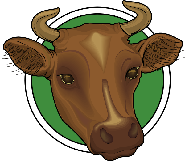 600x521 Mounted Cow Head Clip Art