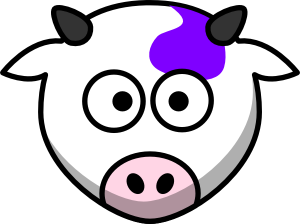 600x448 Purple Cow Clip Art