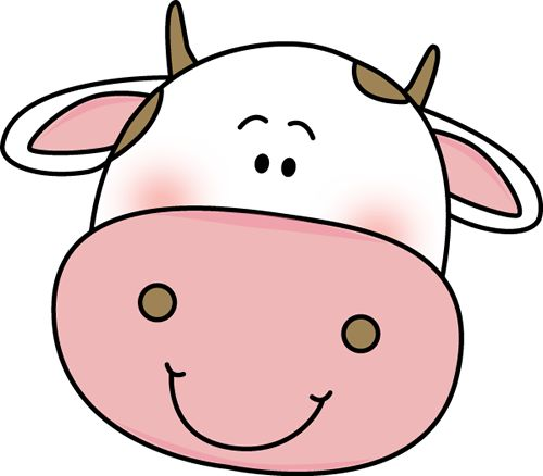 500x438 Cattle Clipart Cow Face
