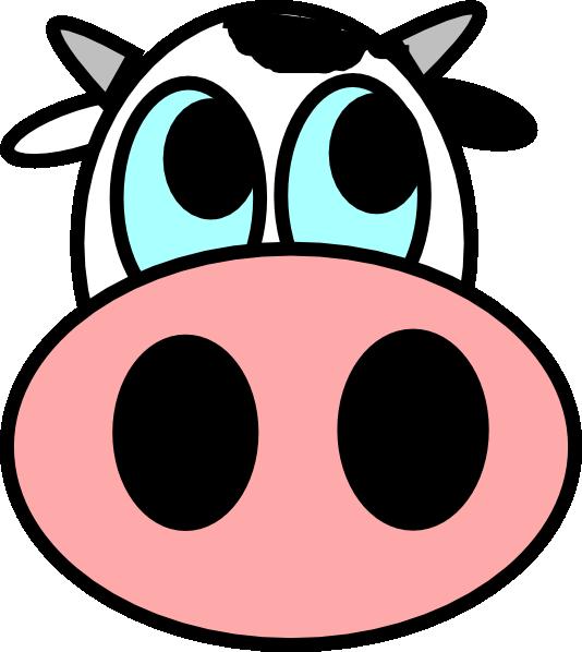 534x598 Cow Face Clip Art