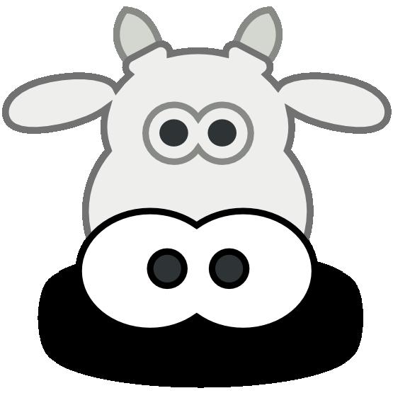 555x555 Cow Head Clip Art