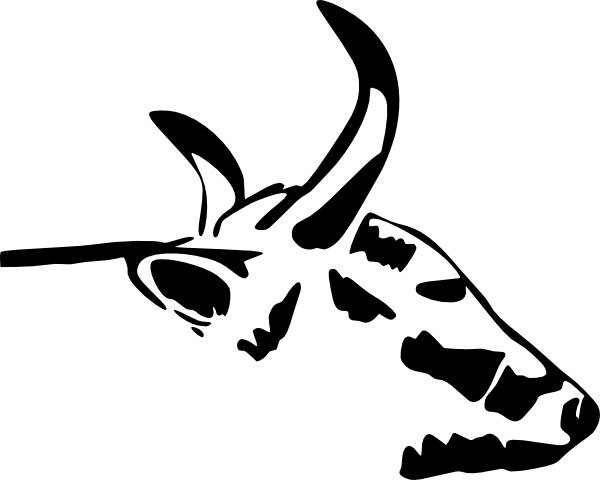 600x480 Cow Head Clip Art Free Vector In Open Office Drawing Svg ( Svg