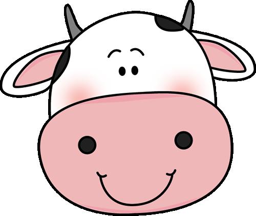 500x421 Cow Head With Black Spots Clip Art