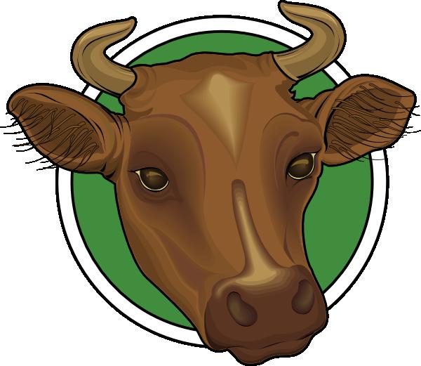 600x521 Mounted Cow Head Clip Art Clipart Panda