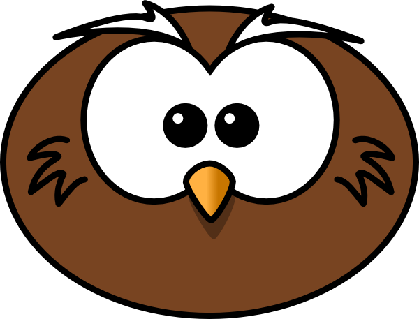 600x457 Owl Head Clip Art