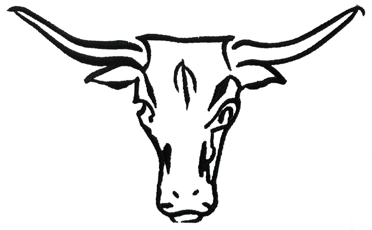 1428x884 Black And White Longhorn Clipart