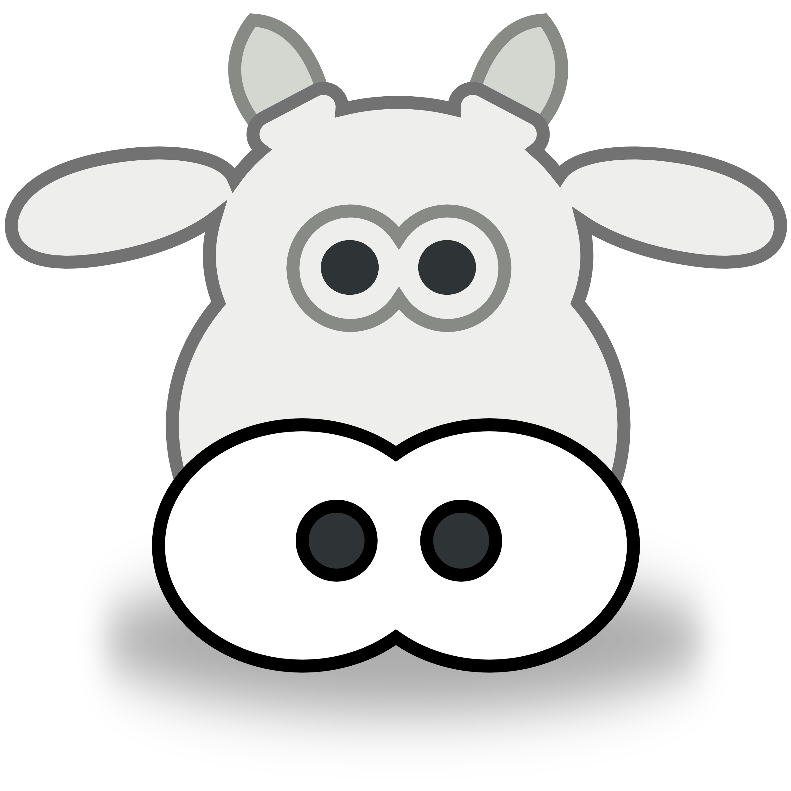 2555x2555 Cow Head Clipart Black And White Clipart Panda