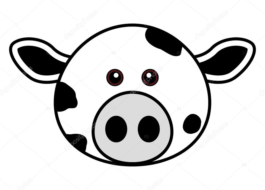 1023x731 Cute Cow Face Stock Vector Leremy