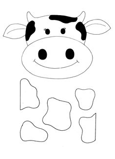 236x326 Templates Clipart Cow