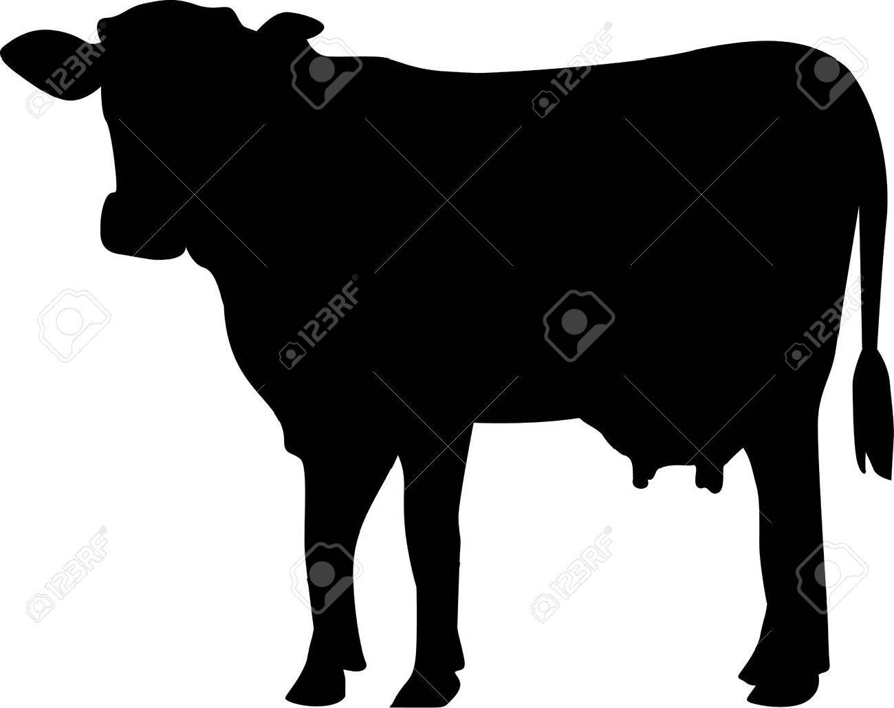 1300x1030 Cow Silhouette Royalty Free Cliparts, Vectors, And Stock