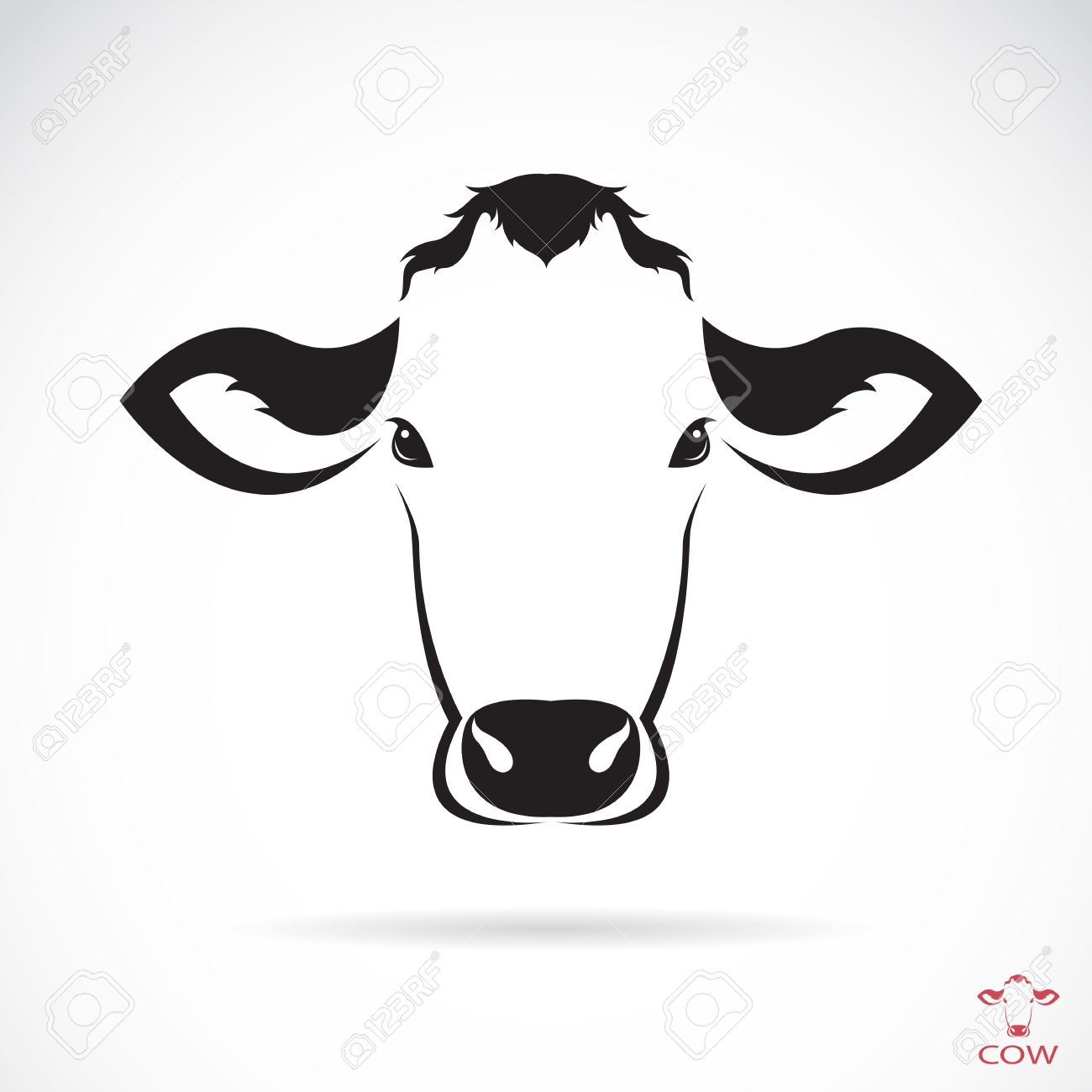 1300x1300 Images Cow Face Silhouette