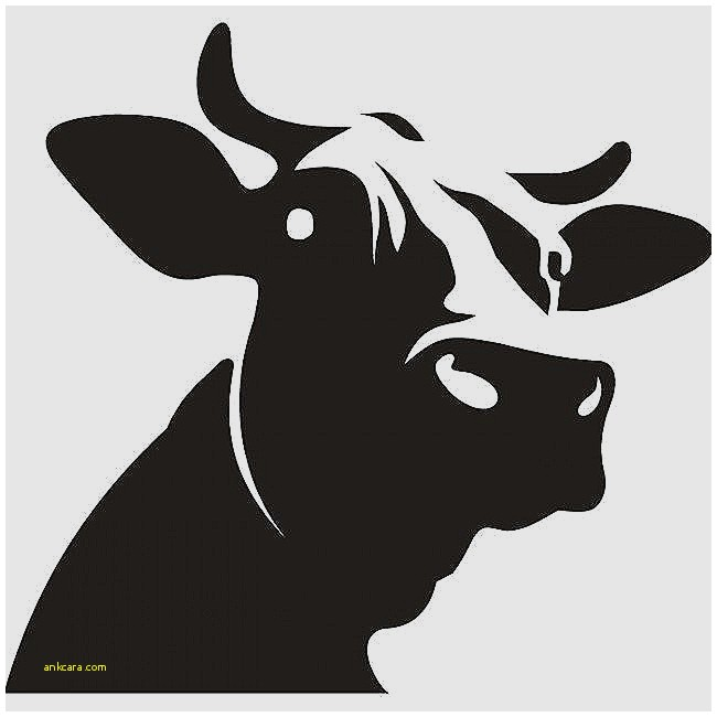 650x650 Wall Decal Swimming Wall Decals Unique Dairy Cow Head Silhouette