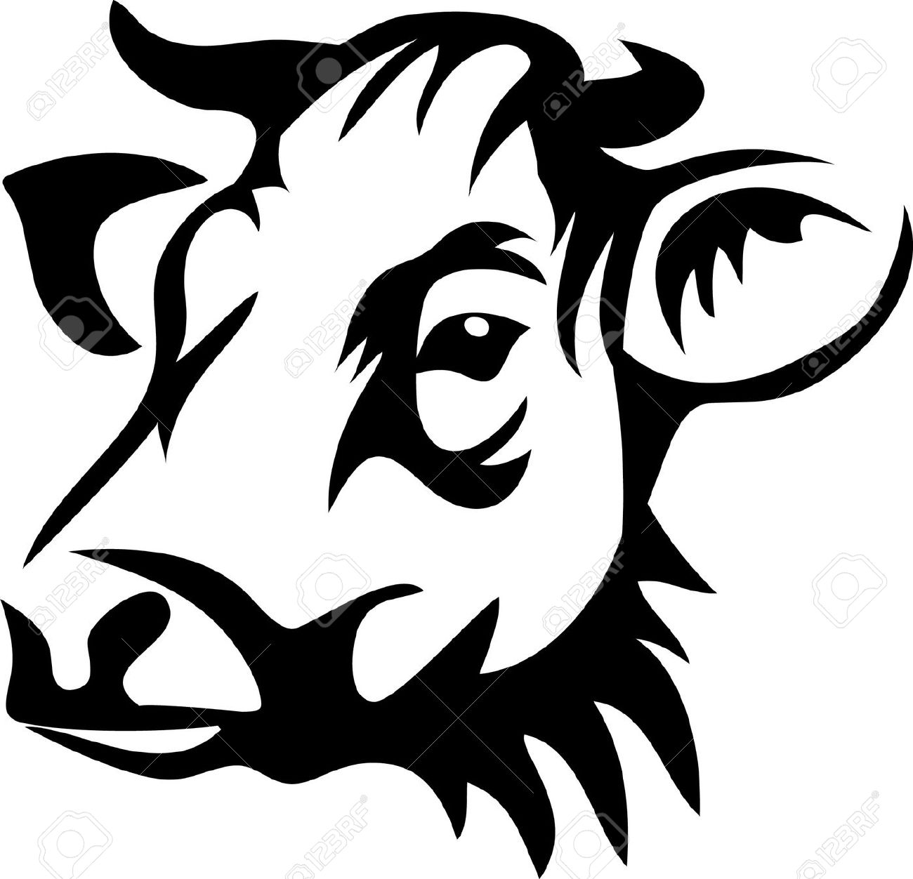1300x1252 Cow Head Clipart Cliparts