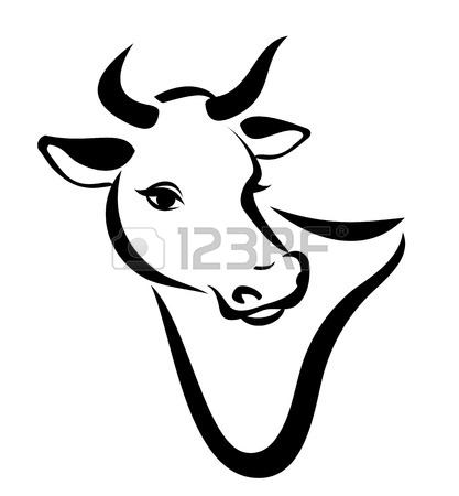 417x450 Cow Head Silhouette Vector Icon Royalty Free Cliparts, Vectors