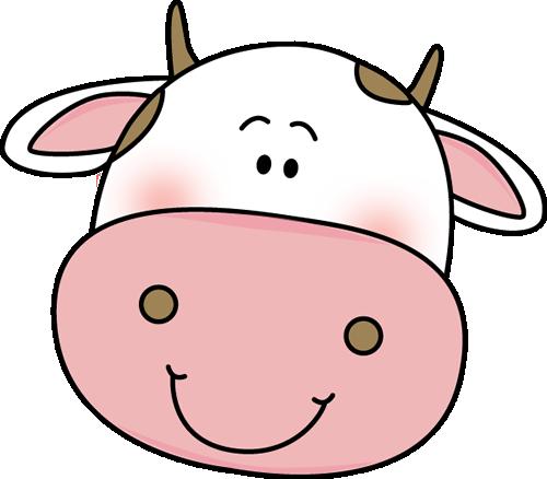 500x438 Cow Head Clip Art