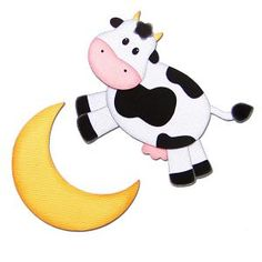 236x236 Cow Jumped Over The Moon Clipart