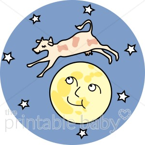 300x300 Cow Jumping Over The Moon Clipart Celestial Baby Clipart