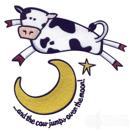Cow Jumped Over The Moon Clipart Free Best