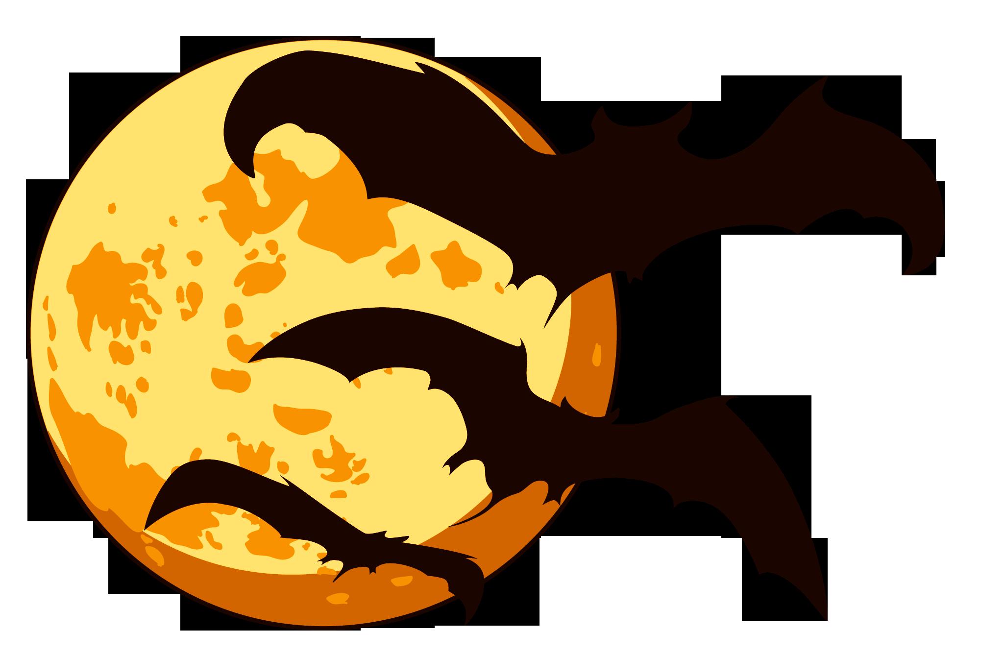 2002x1339 Halloween Moon Clipart