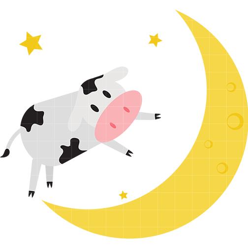 504x504 Moon Clipart Cow