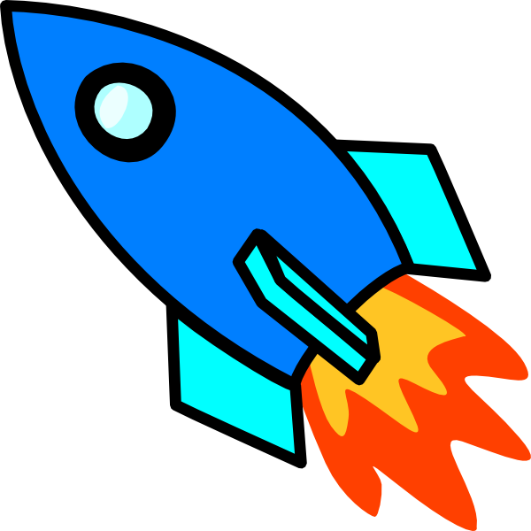 600x600 Rocket To The Moon Clipart
