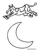 135x175 The Cow Jumped Over Moon Clipart 2044088