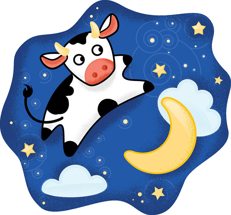 800x747 The Cow Jumped Over Moon Clipart