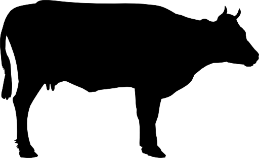 512x313 Cow Silhouette Clip Art 3