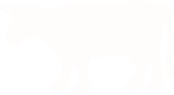600x329 White Cow Silhouette Clip Art