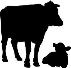 236x224 Cow Silhoette Jpeg