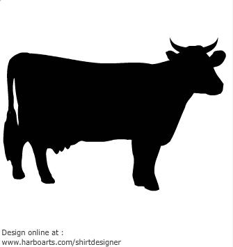 335x355 Cow Silhouette Clip Art