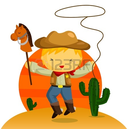 Cowboy And Cowgirl Clipart