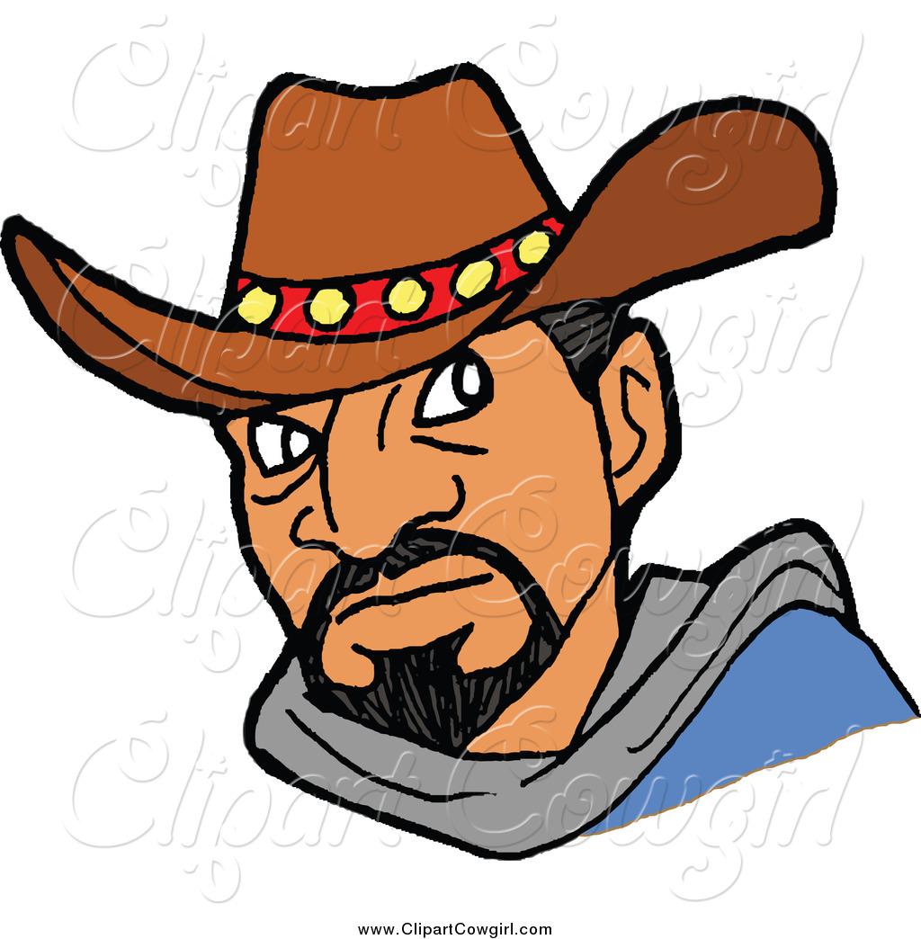 1024x1044 Clipart Of A Tough Hispanic Cowboy By Lafftoon