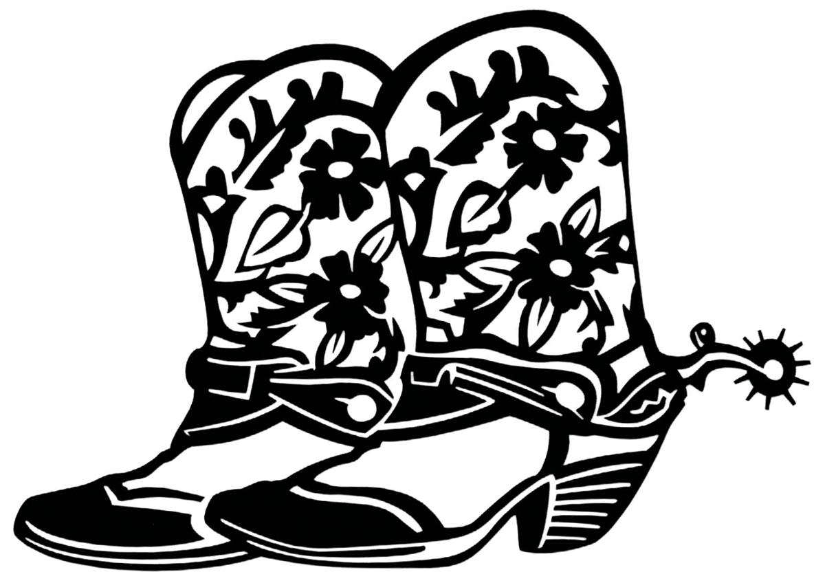 1200x848 Cowgirl Boot Clipart