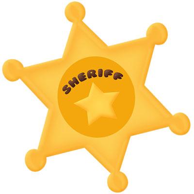 400x400 Cowboy Sheriff Star Clipart