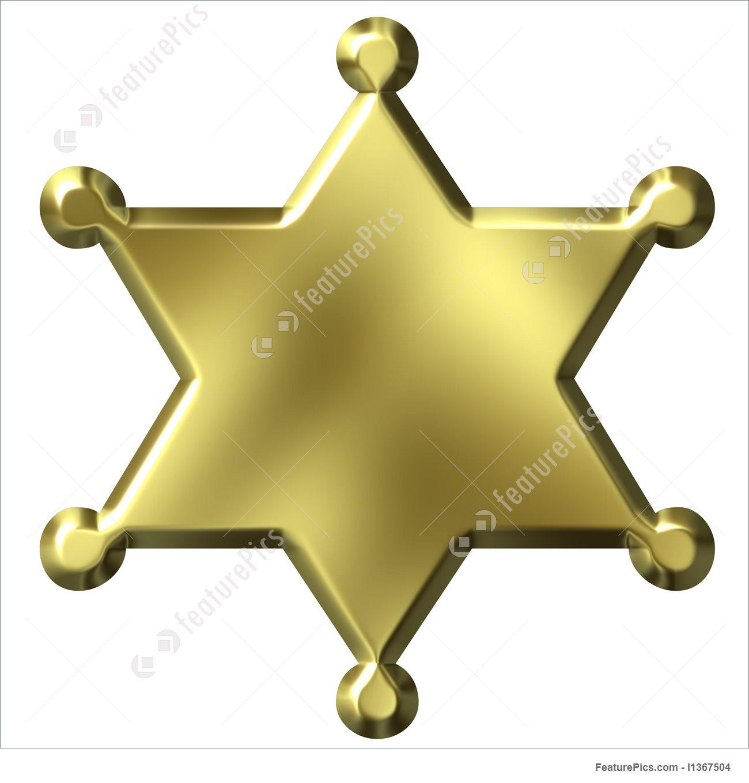 1300x1360 Sheriff's Badge Illustration