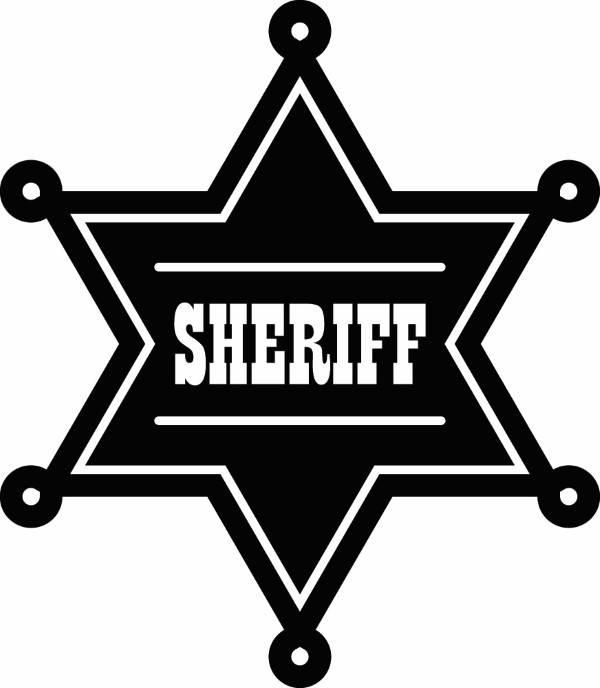 600x688 Sheriff Badge 1 Cowboy Western Rodeo Wild West Wrangler