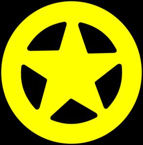 294x298 Sheriff Badge Yellow Simple Clip Art