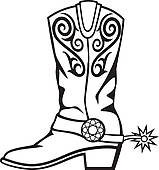 159x170 Cowboy Boots Clipart Black And White Clipart Panda