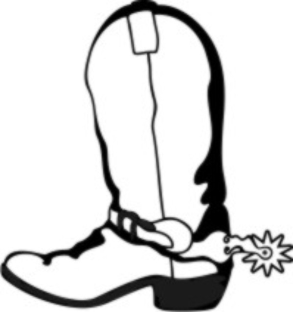 599x636 Western Boots Coloring Page Free Coloring Pages Patterns