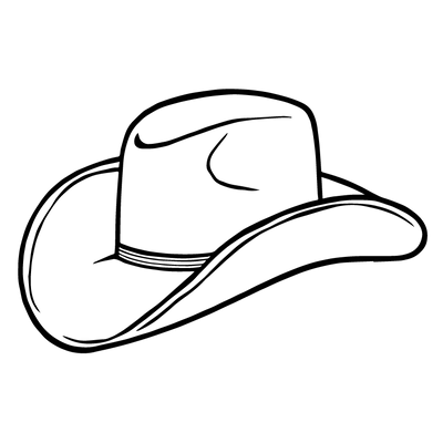 400x400 Black And White Cowboy Boot Transparent Png