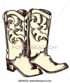 236x281 Cowboy Boot Clip Art, Hand Drawn Cowboy Boots, Cowgirl Boots