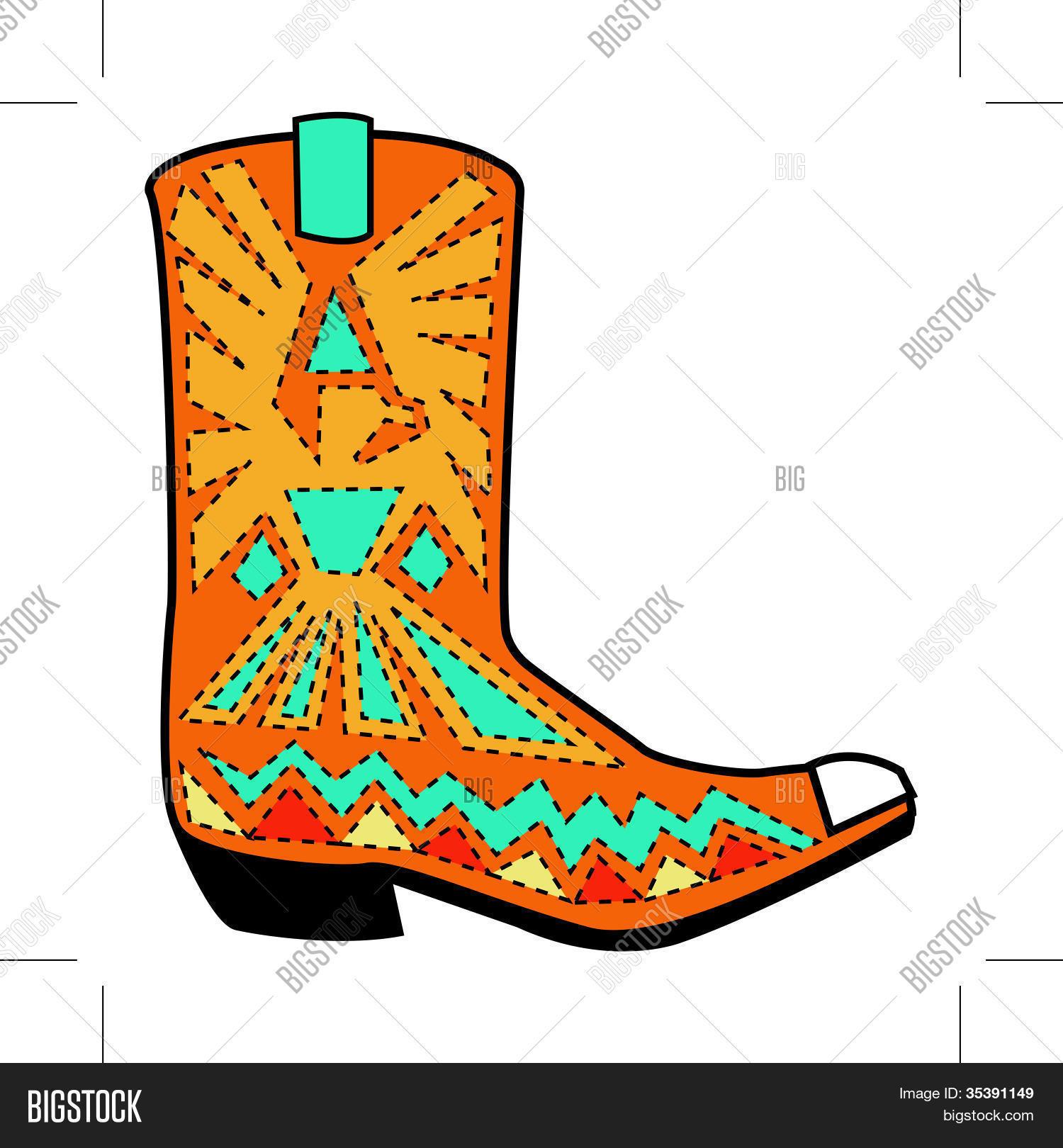 1500x1620 Cowboy Boot Clip Art Vector Amp Photo Bigstock