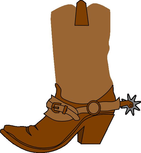 552x597 Cowboy Boot Clip Art