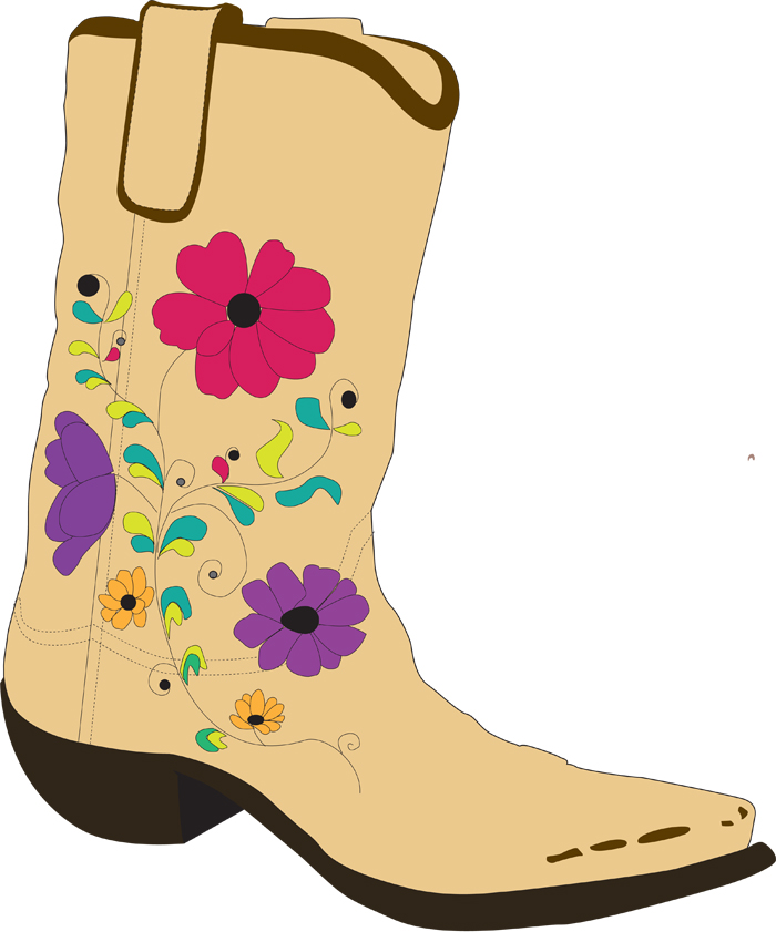 700x850 Cowgirl Boots Clipart
