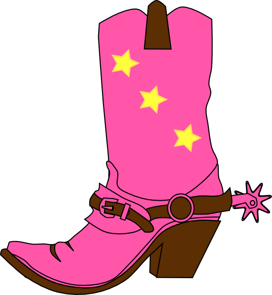 552x597 Cowgirl Hat And Boot Clip Art