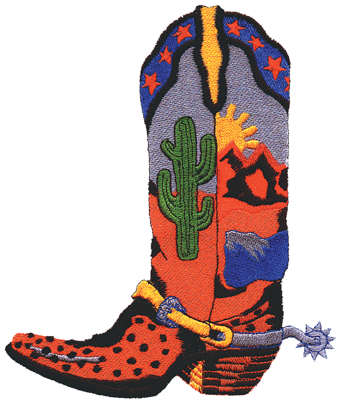 675x798 Free Cowboy Boot Clipart Image