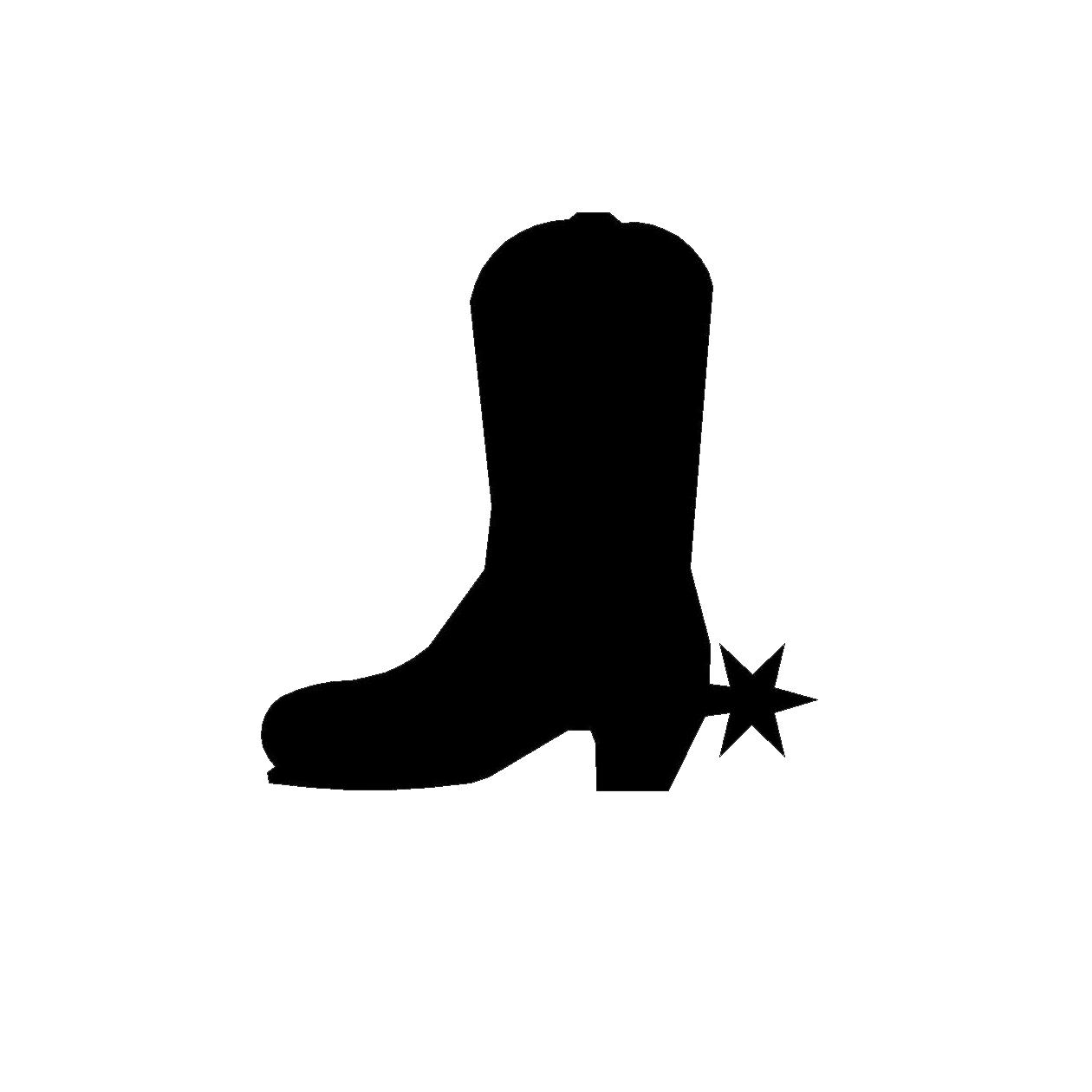 1260x1260 Hd Cute Cowboy Boots Clipart Boot Silhouette Clip Art Image