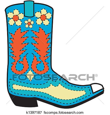 450x470 New Cowgirl Boots Clipart
