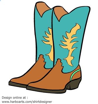 335x355 Blue Clipart Cowboy Boot